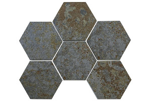 NATURAL HEXAGONAL SLATE TILE-ARDECH